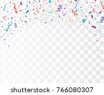 colorful confetti isolated on... | Shutterstock .eps vector #766080307