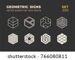 set of eight minimalistic... | Shutterstock .eps vector #766080811