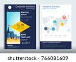corporate business cover book... | Shutterstock .eps vector #766081609