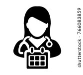 doctor appointment icon vector... | Shutterstock .eps vector #766083859