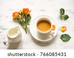 romantic good morning coffee | Shutterstock . vector #766085431