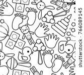 cute baby seamless pattern ...   Shutterstock .eps vector #766089145