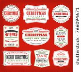 vintage christmas frames ... | Shutterstock .eps vector #766094671