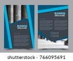 flyer design template. brochure ... | Shutterstock .eps vector #766095691