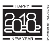 happy new year 2018 text design ... | Shutterstock .eps vector #766096789