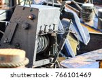 ship with a rope winch | Shutterstock . vector #766101469