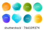 abstract blur shapes color... | Shutterstock .eps vector #766109374