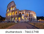 rome  italy   the famous...   Shutterstock . vector #76611748
