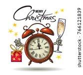 christmas greeting card....   Shutterstock .eps vector #766121839