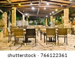 cafe at night at the coral... | Shutterstock . vector #766122361