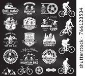 set of mountain biking clubs... | Shutterstock .eps vector #766123534