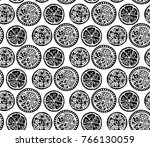 seamless abstract pattern with... | Shutterstock .eps vector #766130059