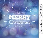 typographic christmas design  ... | Shutterstock .eps vector #766132099