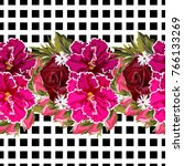 seamless pattern with beautiful ... | Shutterstock .eps vector #766133269