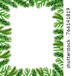 hand drawn watercolor christmas ... | Shutterstock . vector #766141819