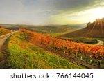 piedmont  langhe  landscape... | Shutterstock . vector #766144045