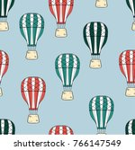 seamless vector pattern. air... | Shutterstock .eps vector #766147549