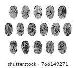 different fingerprint... | Shutterstock .eps vector #766149271