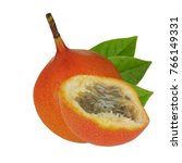 Sweet Granadilla With Leaves...