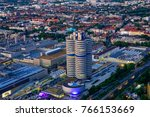 look at the bmw headquarters ...   Shutterstock . vector #766153669