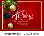 holidays greeting card for... | Shutterstock .eps vector #766154041