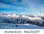 panorama of the austrian ski... | Shutterstock . vector #766156237