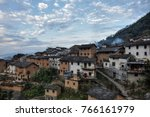 the yangchan tulou  the chinese ... | Shutterstock . vector #766161979