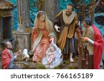 the arts of the nativity of the ... | Shutterstock . vector #766165189