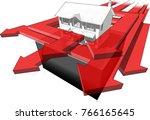 3d illustration of diagram of a ... | Shutterstock . vector #766165645