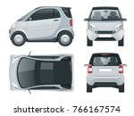 vector compact small car. small ... | Shutterstock .eps vector #766167574