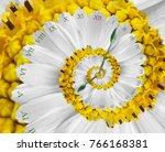 white yellow flower surreal... | Shutterstock . vector #766168381