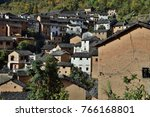 the yangchan tulou  the chinese ... | Shutterstock . vector #766168801
