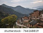 the yangchan tulou  the chinese ... | Shutterstock . vector #766168819
