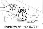female hand reaches for the... | Shutterstock .eps vector #766169941