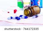 drug prescription for treatment ... | Shutterstock . vector #766172335