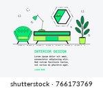 interior design line art...   Shutterstock .eps vector #766173769