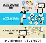 social network vector concept....   Shutterstock .eps vector #766175194