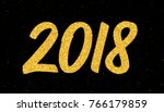 happy new year 2018 greeting... | Shutterstock . vector #766179859