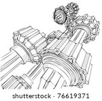 sketch of the transmission   Shutterstock .eps vector #76619371