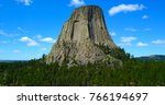 Devil's tower in wyoming  usa