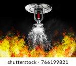 image of fire sprinkler | Shutterstock . vector #766199821