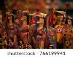 wooden figurines  decorative...   Shutterstock . vector #766199941