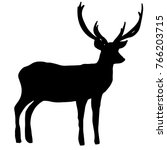 deer profile silhouette. lovely ... | Shutterstock .eps vector #766203715