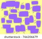 cartoon comic bubble  speech... | Shutterstock .eps vector #766206679