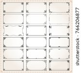 decorative vintage frames... | Shutterstock .eps vector #766206877