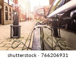 electric vehicle is changing in ... | Shutterstock . vector #766206931