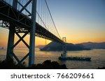 japan  yamaguchi  kanmon bridge ...   Shutterstock . vector #766209661