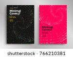 minimal cover or poster design... | Shutterstock .eps vector #766210381