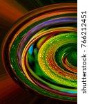 half wheel of color  abstract... | Shutterstock . vector #766212451