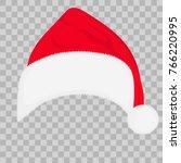 santa hat isolated on... | Shutterstock .eps vector #766220995